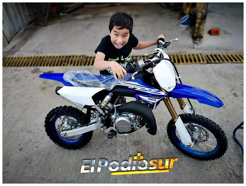 Papá Noel le trajo una Yamaha 65cc a Matías Urra