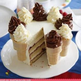 Ice-Cream-Cone Cake