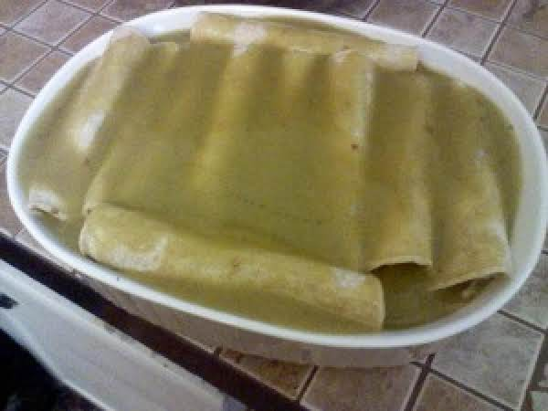 Rolled Enchiladas, Ready For The Oven