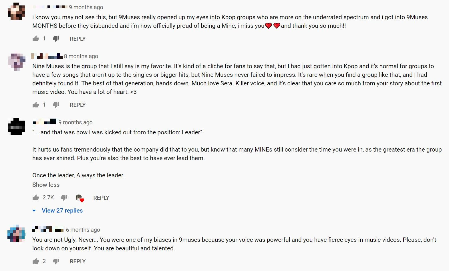 nine muses comments