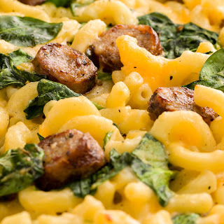 Health and fertility benefits of Trader Joe's Mac & Cheese with Italian Sausage and Spinach.