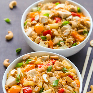 Pineapple Coconut Chicken Fried Rice.