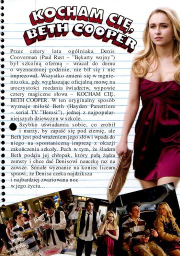 Tył ulotki filmu 'Kocham Cię, Beth Cooper'