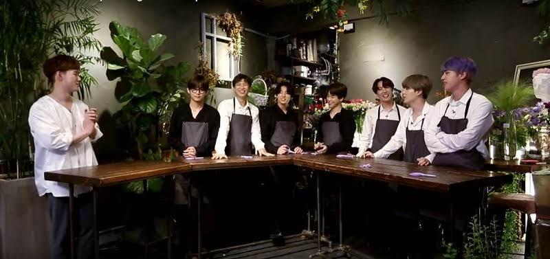 Handsome florist Teacher in Run BTS Episode 99