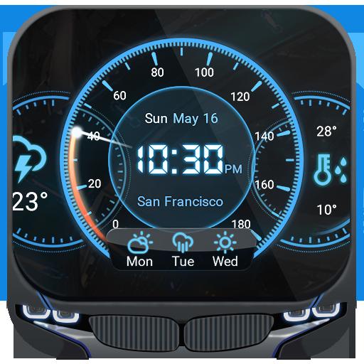 儀表板帥氣風格時鐘天氣小工具,特殊設計,專業精準天氣app 天氣 App LOGO-APP開箱王