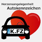 821 KFZ-Kennzeichen