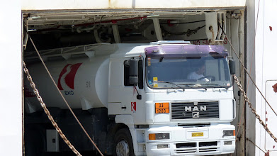Photo: One of the truck tankers parked in the big tanker