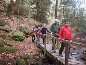 Photo: traversée du ruisseau de Tiefenthal