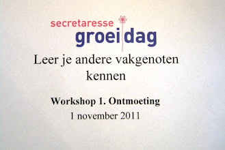 Photo: Workshop 1: Leer je andere vakgenoten kennen.