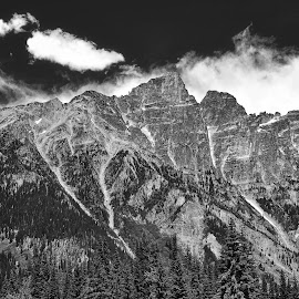Majestic Mountains of the Interior by Garry Dosa - Black & White Landscapes ( b&w, mountain, majestic, black & white )