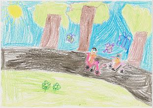 """Photo: praca Marysi :""""Jeździmy rowerem, bo lubimy wycieczki rowerowe"""""""