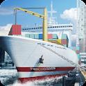 Cargo Ship Construction Crane icon