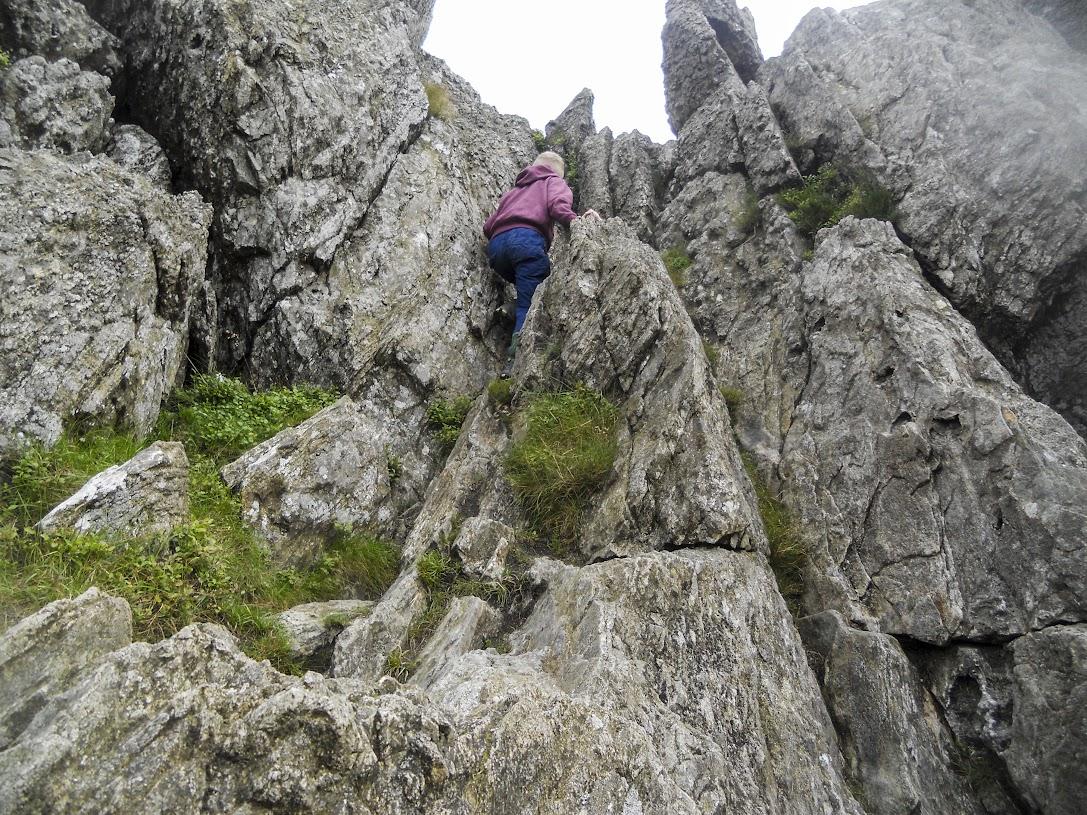 More climbing on Tryfan, Tryfan