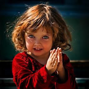 by Veronica Gafton - Babies & Children Children Candids ( child, blonde, red, blue, portrait )