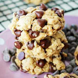 Coconut Oil Chocolate Chip Oatmeal Cookies.