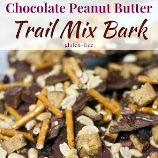 Chocolate Peanut Butter Trail Mix Bark.