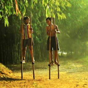 Boys Playing by Sefanya Dirgagunarsa - Babies & Children Children Candids ( kids playing in summer )