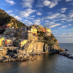 Manarola by Filippo Bianchi - Landscapes Travel ( mare, hdr, seas, cinque, liguria, d5000, terre, manarola, seascape, italy, la spezia, fil.ippo )