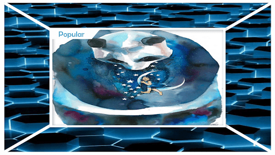 Modrá růžová lebka Live Wallpaper - náhled