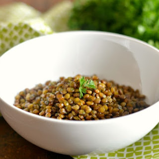 Skillet Popped Lentils With Parsley.