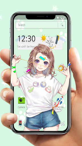 Download Summer Young Lovely Girl Theme 1.1.3 1