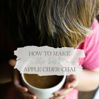Homemade Apple Cider Chai.