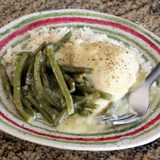 Easy Crock Pot Chicken and Rice With Green Beans.