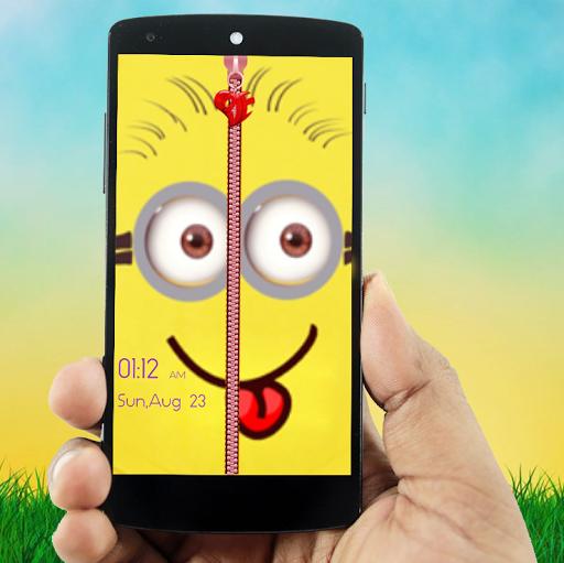 Smile Zipper Lock Screen