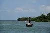 Sri. Lanka Wilpattu National Park . Fishermen between the bay and the mangroves
