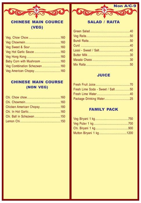 Sai Pooja menu 7