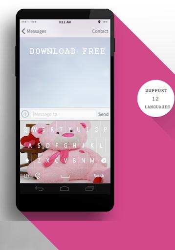 Teddy Bear Pink Keyboard