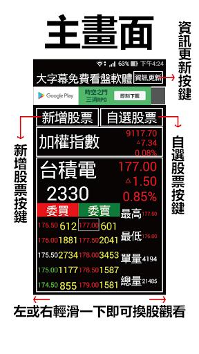 股市888 - 超大字幕免費行動股市即時報價軟體