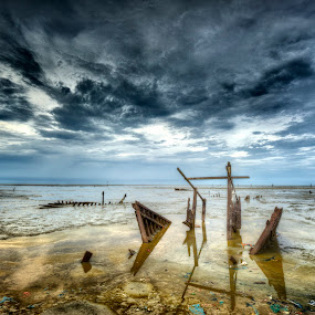 abandoned ship by Reeve Lim - Landscapes Waterscapes