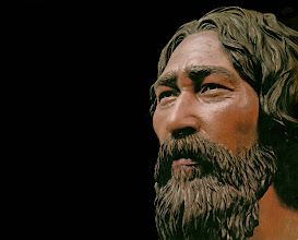 "Photo: Kennewick Man Sometime around 15,000 years ago, the new theory goes, coastal Asian groups began working their way along the shoreline of ancient Beringia - a route labled ""the kelp highway"". Kennewick man may belong to an ancient population of seafarers who were America's original settlers. They did not look like Native Americans. The few remains we have of these early people show they had longer, narrower skulls with smaller faces. These mysterious people have long since disappeared. Judging from the shape of his skull and bones, his closest living relatives appear to be the Moriori people of the Chatham Islands, a remote archipelago 420 miles southeast of New Zealand, as well as the mysterious Ainu people of Japan - Just think of polynesians.  more: http://www.smithsonianmag.com/history/kennewick-man-finally-freed-share-his-secrets-180952462/?no-ist"