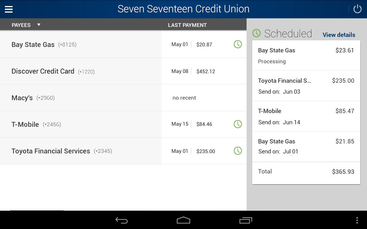 Seven Seventeen Credit Union- screenshot