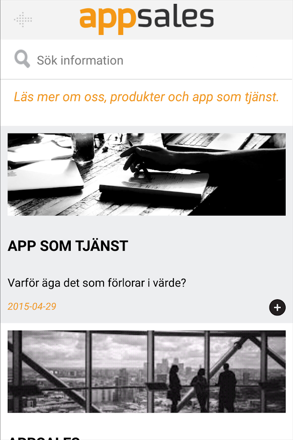 Appsales Jobb- screenshot