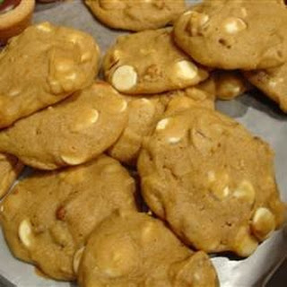 Pumpkin Pecan White Chocolate Cookies.