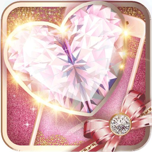 Pink Gold Fancy Theme: Glitter heart wallpaper HD