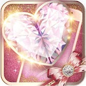 Pink Gold Fancy Theme: Glitter heart wallpaper HD
