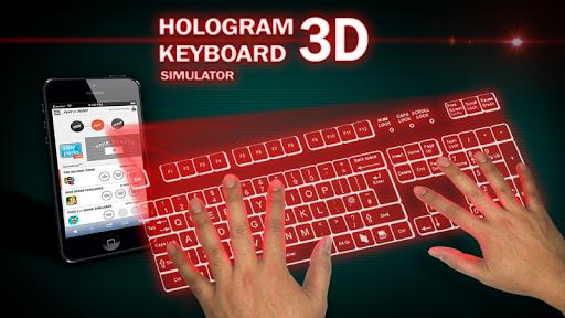 Keyboard Hologram 3D Simulator