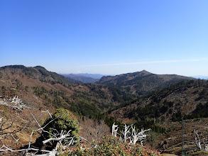 右に加茂助谷ノ頭、左はテンネンコウシ高