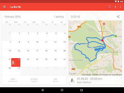 Runtastic Road Bike Cycling GPS Tracker- screenshot thumbnail