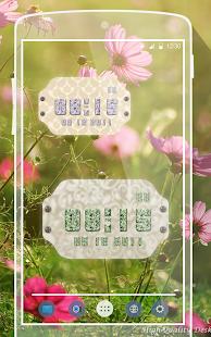 Flora Widget Clock - náhled