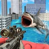 Deadly Shark Hunting City Attack Sniper