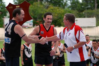 Photo: Coach Brenton Harris, Captain Lee van Gils and Ron Vernon. Photo, Trent Mears and Ross McRae.
