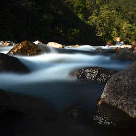 Flowing stream by Pijush Roy - Nature Up Close Water (  )