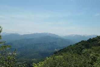 右奥に白山、中央は猿ヶ山、左に人形山など