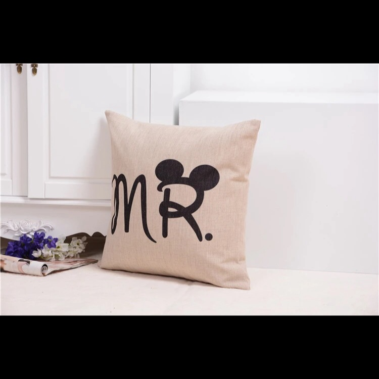Mickey Minnie Couple Pillow Case Cover