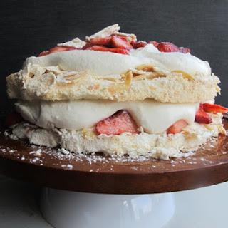 Strawberries and Cream Pavlova.