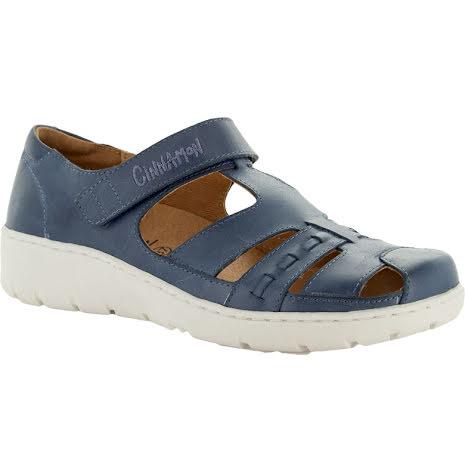 Kim blå stängd sandal med kardborre